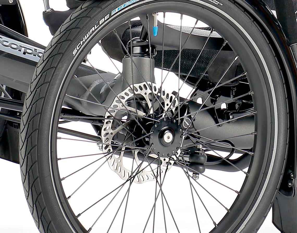 fast recumbent trike scorpion disc brakes