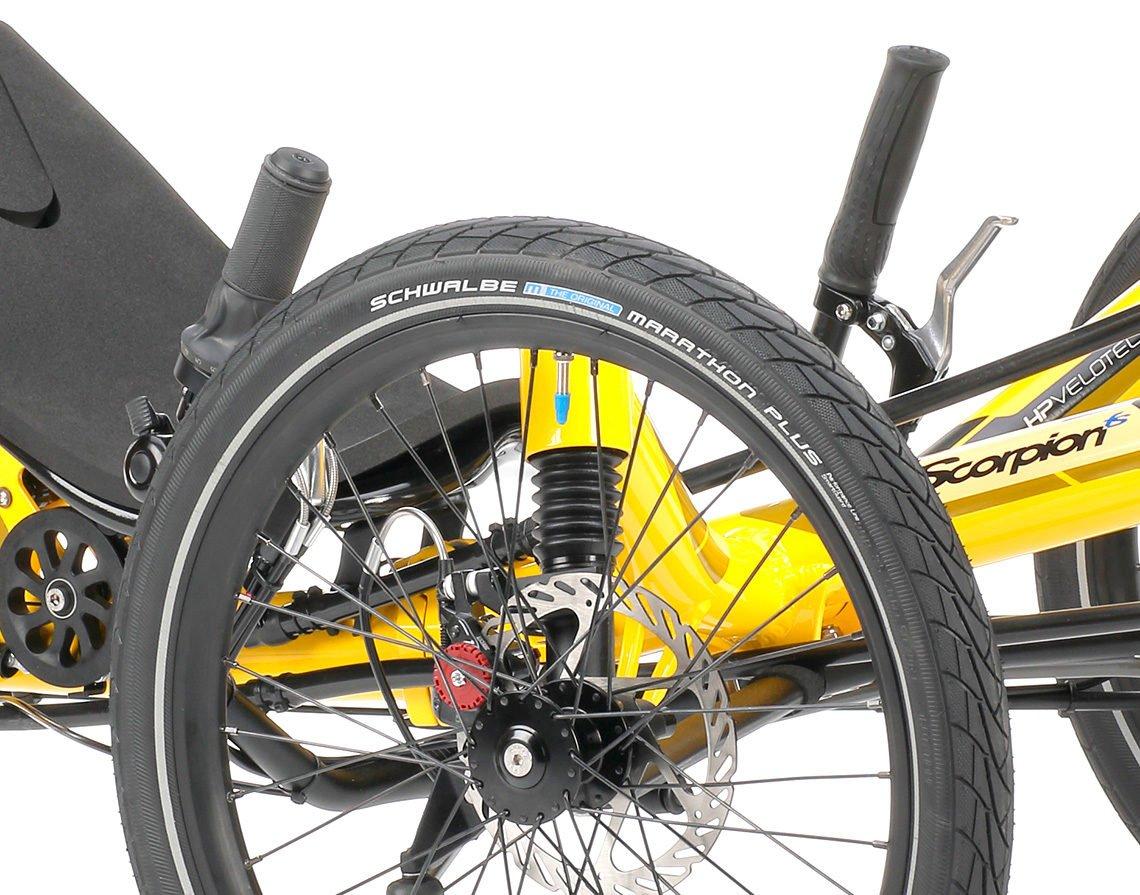 full suspension foldable trike scorpion fs 20 handlebar