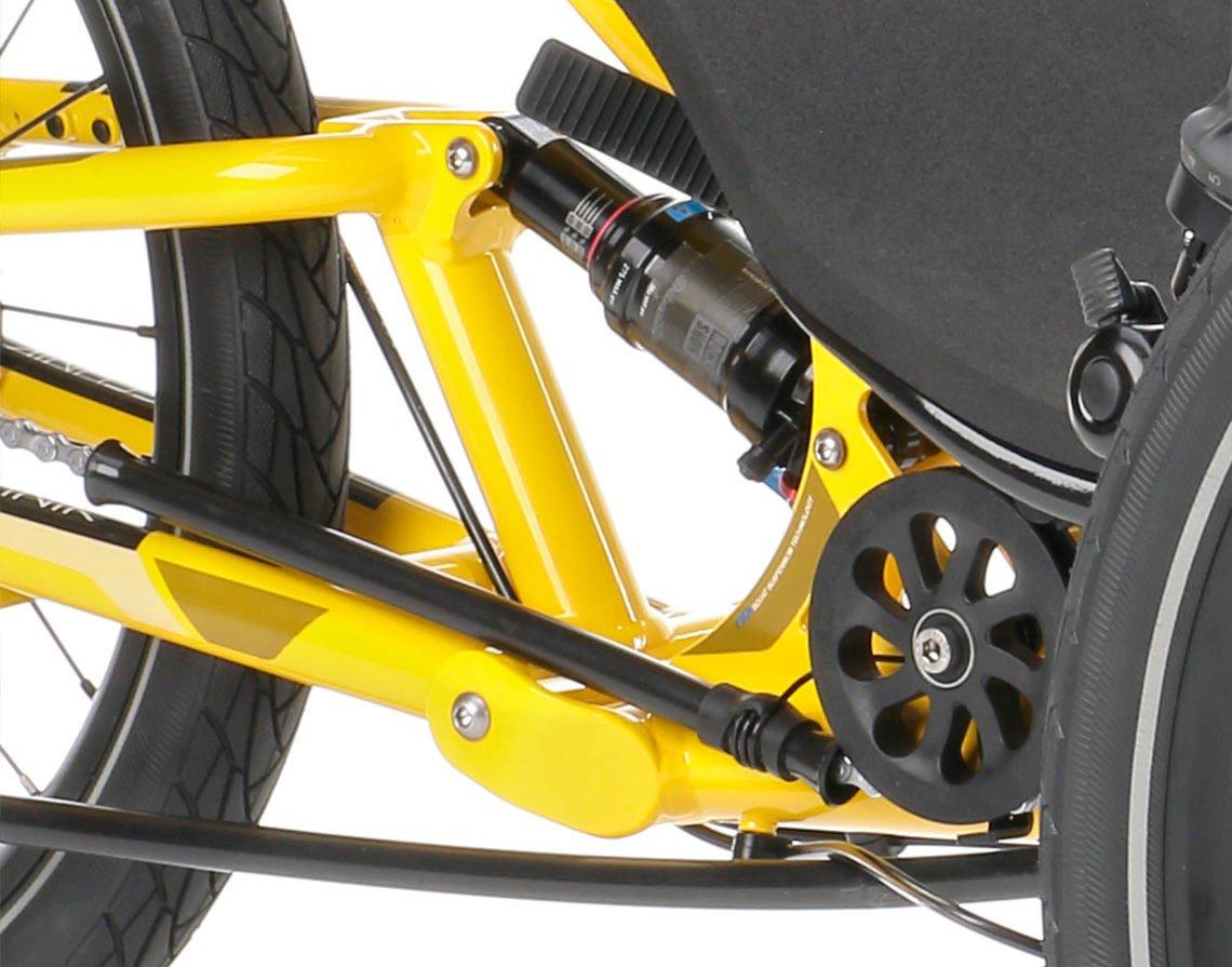 full suspension foldable trike scorpion fs 20 rear suspension