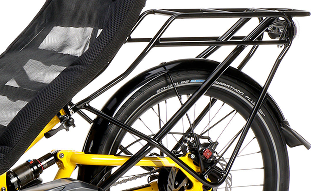 recumbent trike touren liegedreirad scorpion fs 20 gepaecktraeger luggage rack