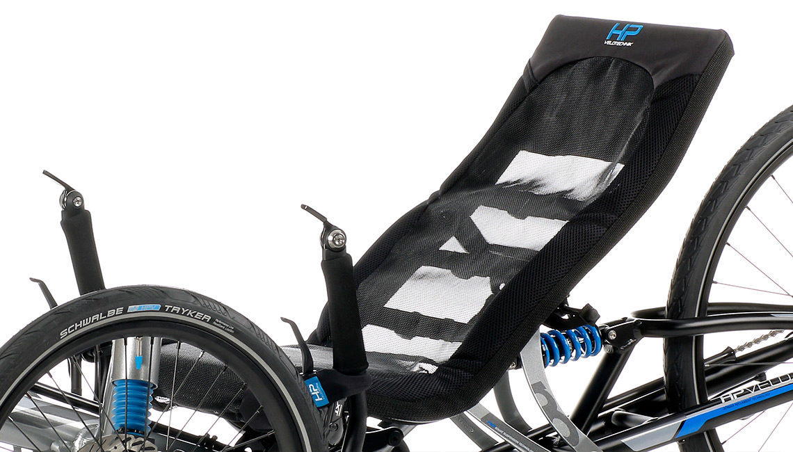 vollgefedertes full suspension trike scorpion fs 26 ergomesh recumbent seat